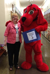 """Clifford the Reading Dog Visits St. John's Spring Book Fair"""